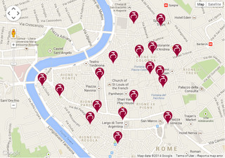 Cartina di Stazione Bike Sharing di Roma